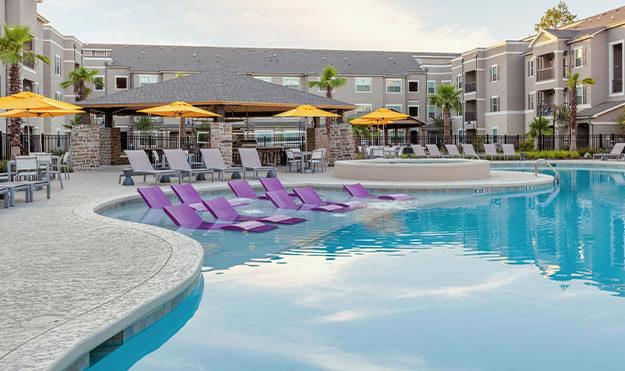 Three Pools with Spas